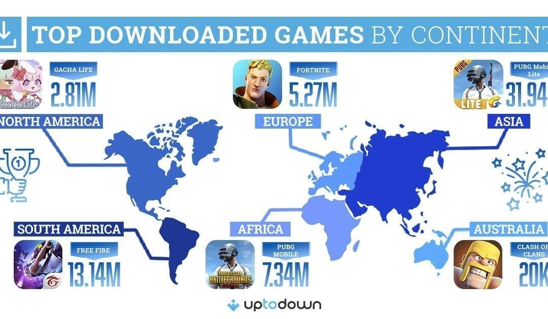 The most popular mobile games on each continent